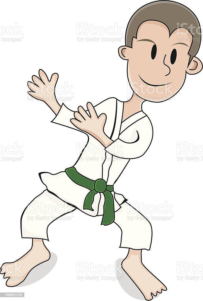 Karate kid royalty-free stock photo