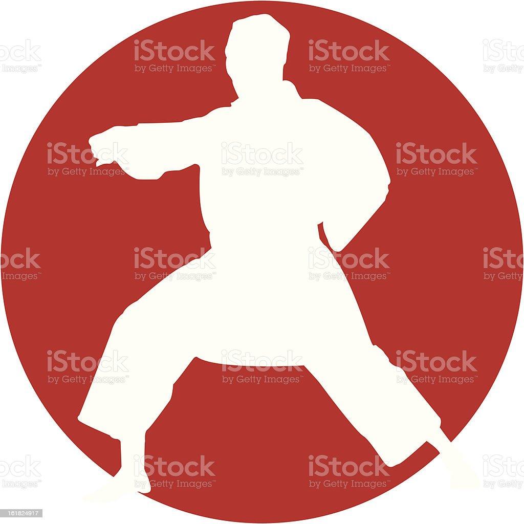 Karate kid vector art illustration