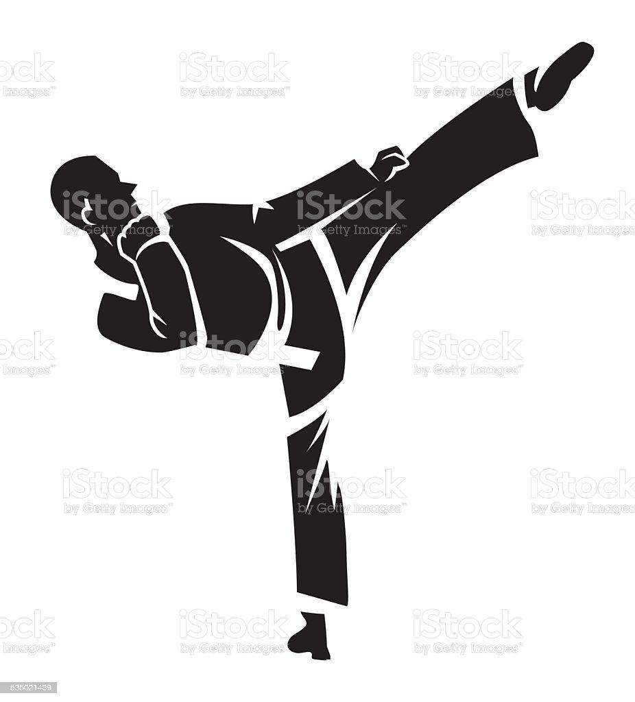Karate tattoo vector art illustration