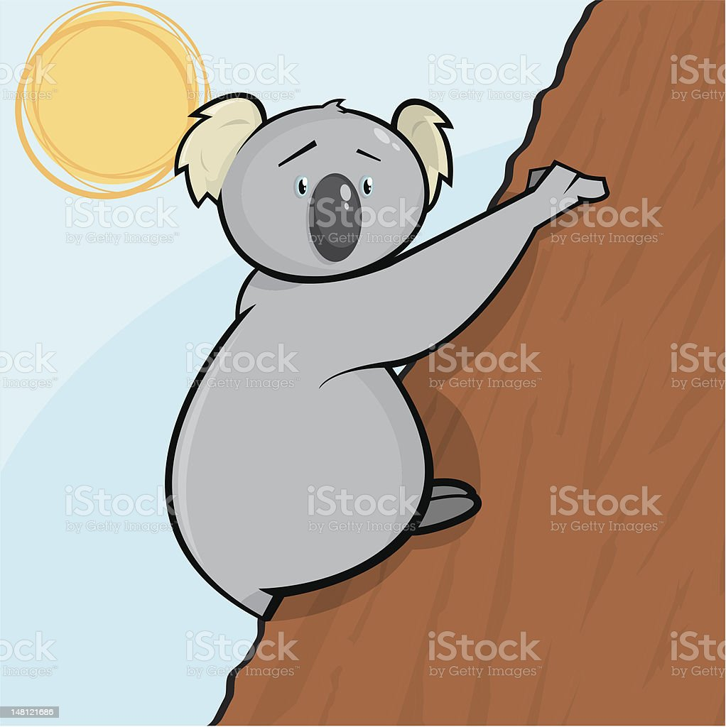 Karl the Koala royalty-free stock vector art