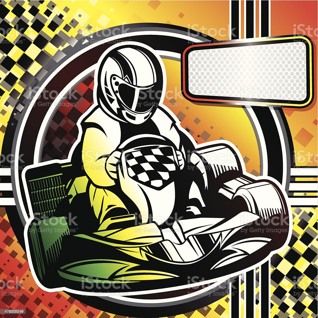 Kart Racing vector art illustration