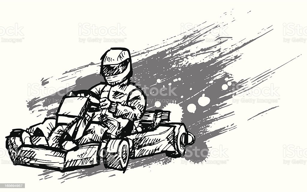 kart vector art illustration