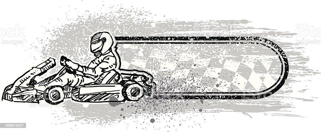 karting banner vector art illustration
