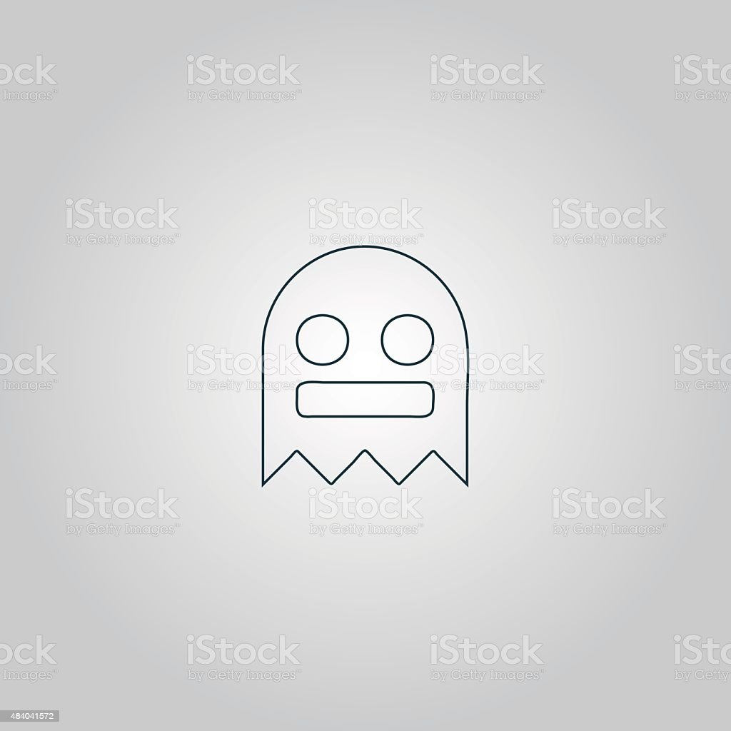 Kawaii cute ghost vector art illustration