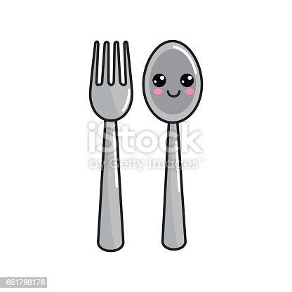 Kawaii Happy Spoon And...