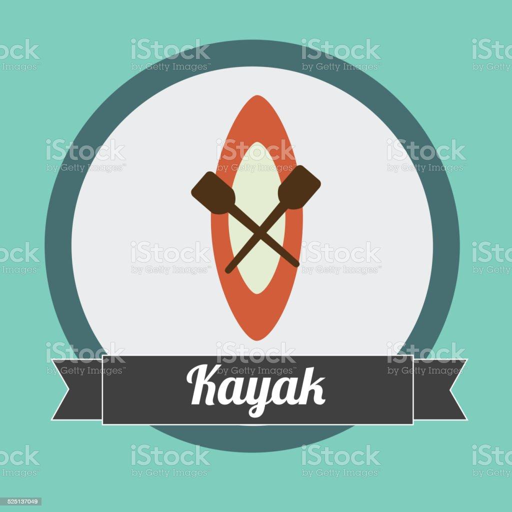 kayak design vector art illustration