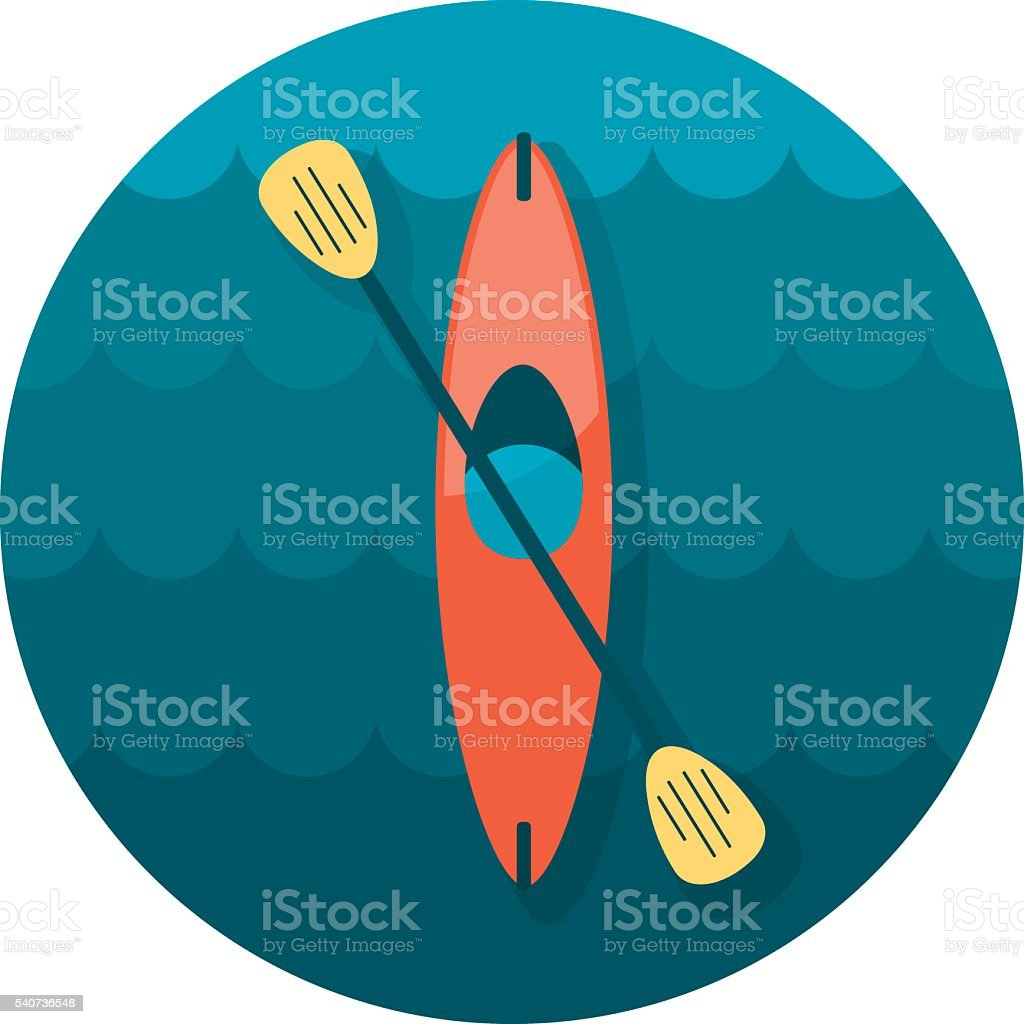 Kayak icon. Canoe vector. Summer. Vacation vector art illustration
