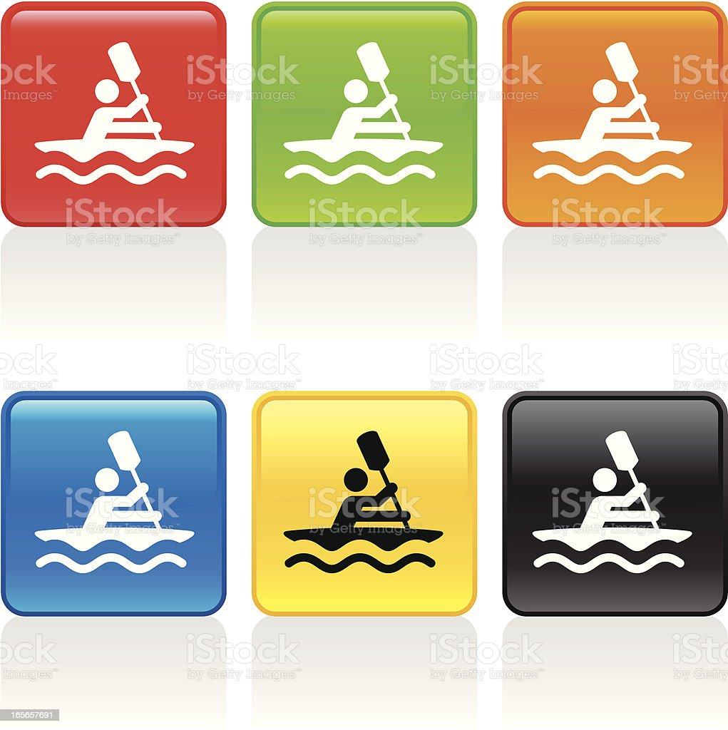 Kayak Icon royalty-free stock vector art