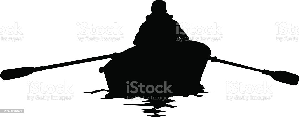 Kayak on white background vector art illustration