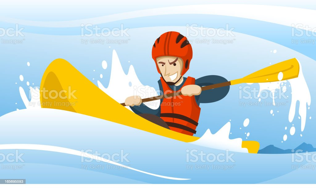 kayak ride royalty-free stock vector art