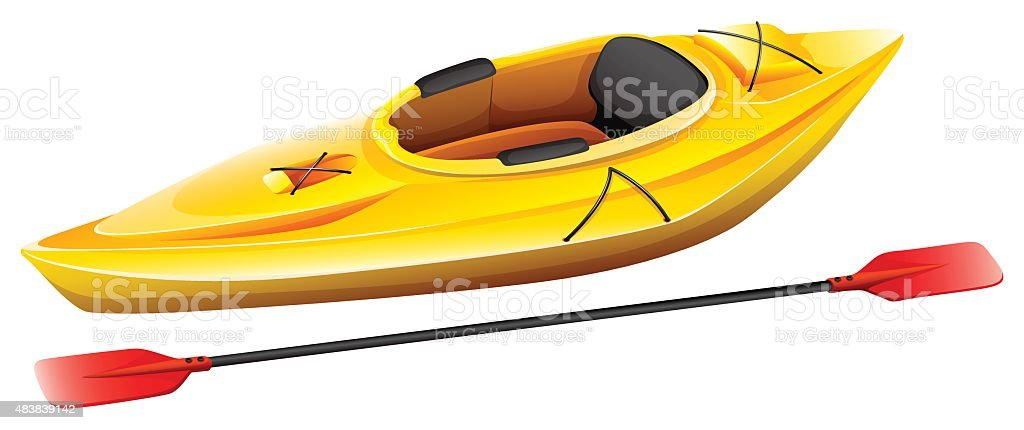 Kayak vector art illustration