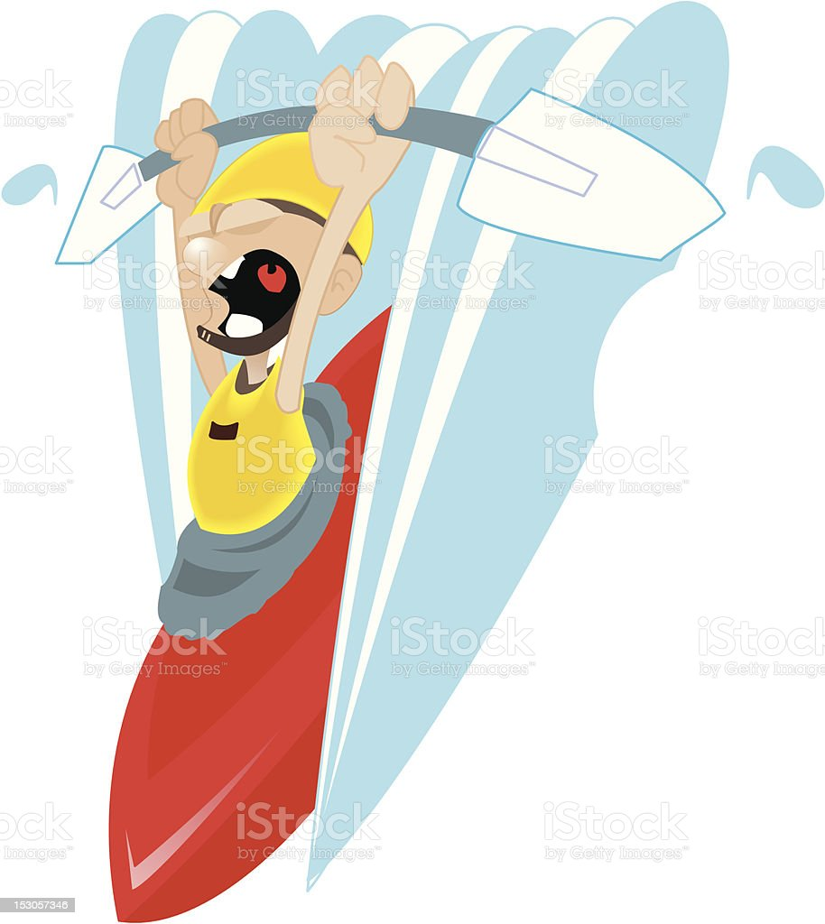 Kayaker royalty-free stock vector art