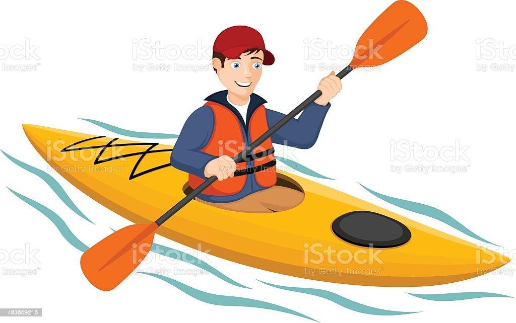 Kayaker royalty-free stock vector art