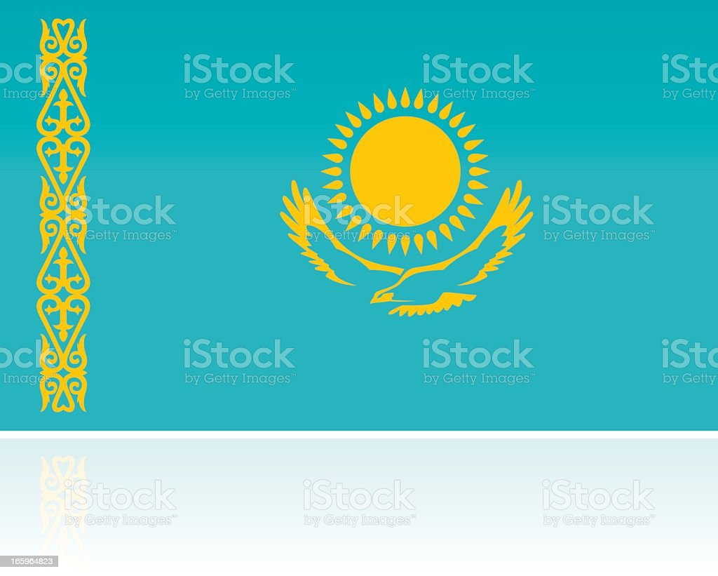 Kazakhstan Country Flag, Central Asia/Middle East royalty-free stock vector art