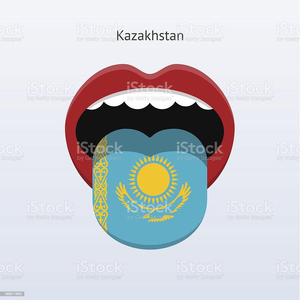 Kazakhstan language. Abstract human tongue. royalty-free stock vector art