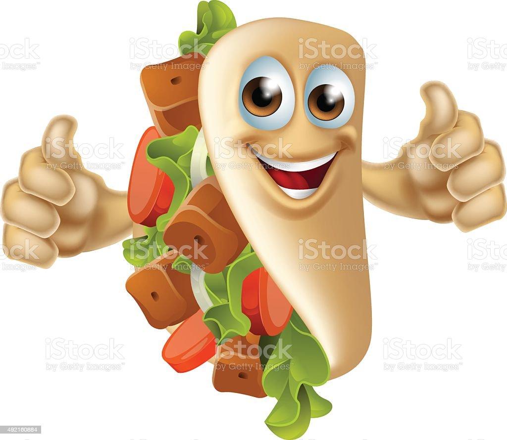 Kebab Mascot Character vector art illustration