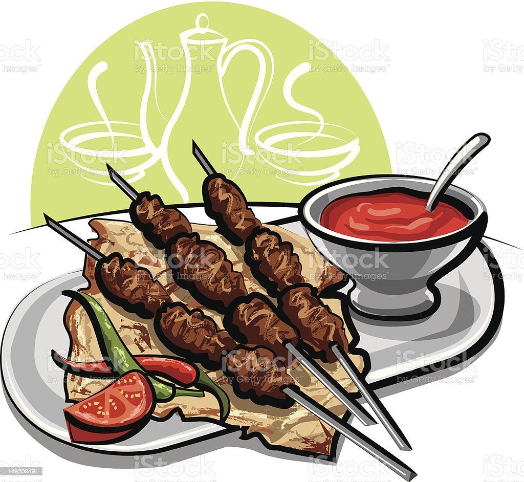 Kebab royalty-free stock vector art