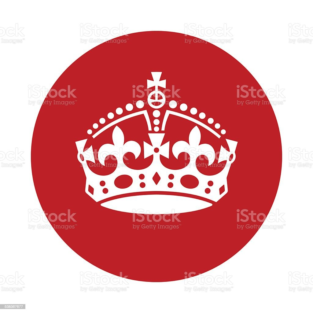keep calm crown icon vector art illustration