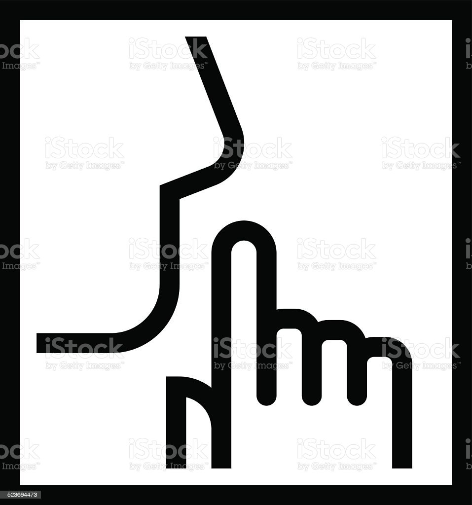 Keep silence icon vector art illustration