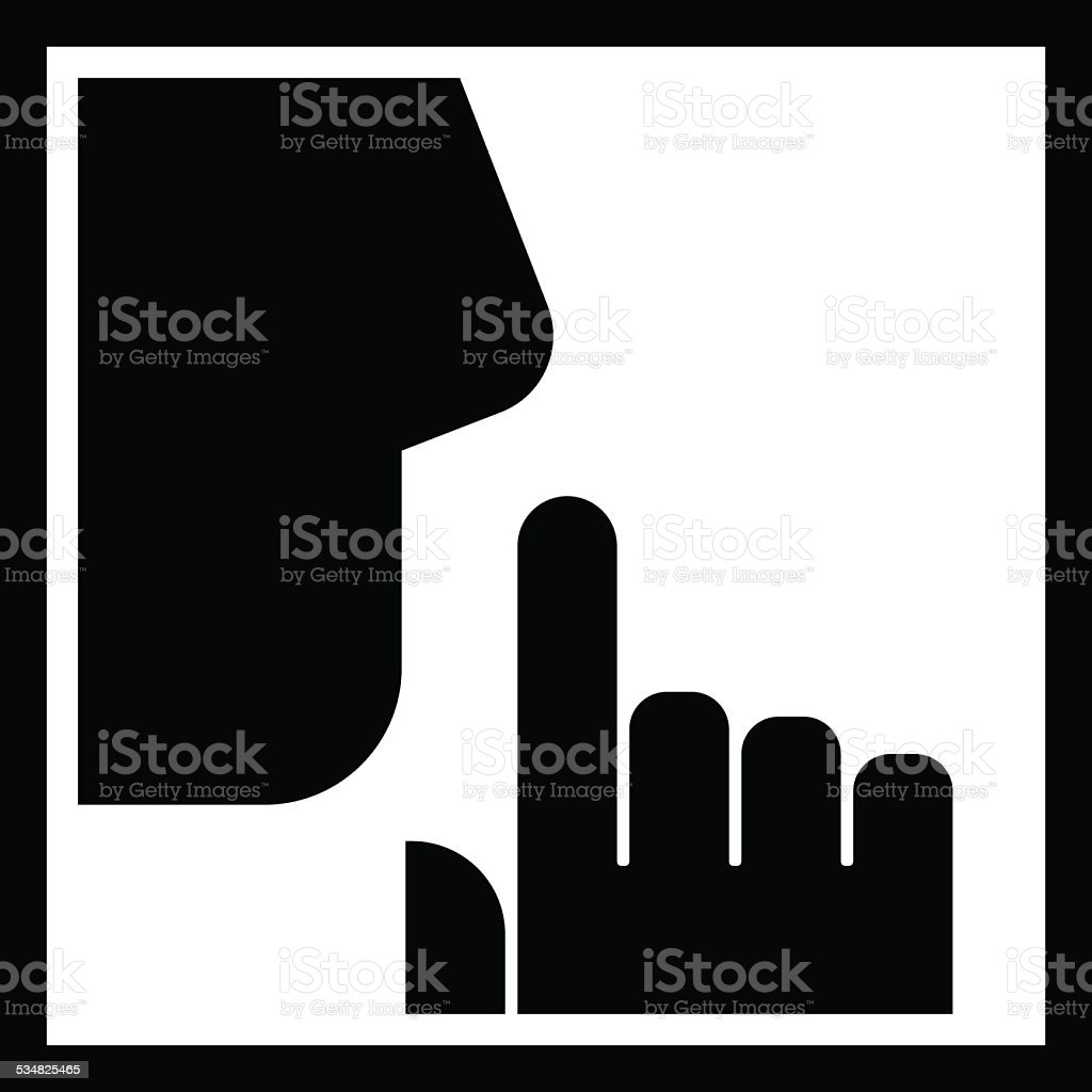 Keep silence icon vector art illustration