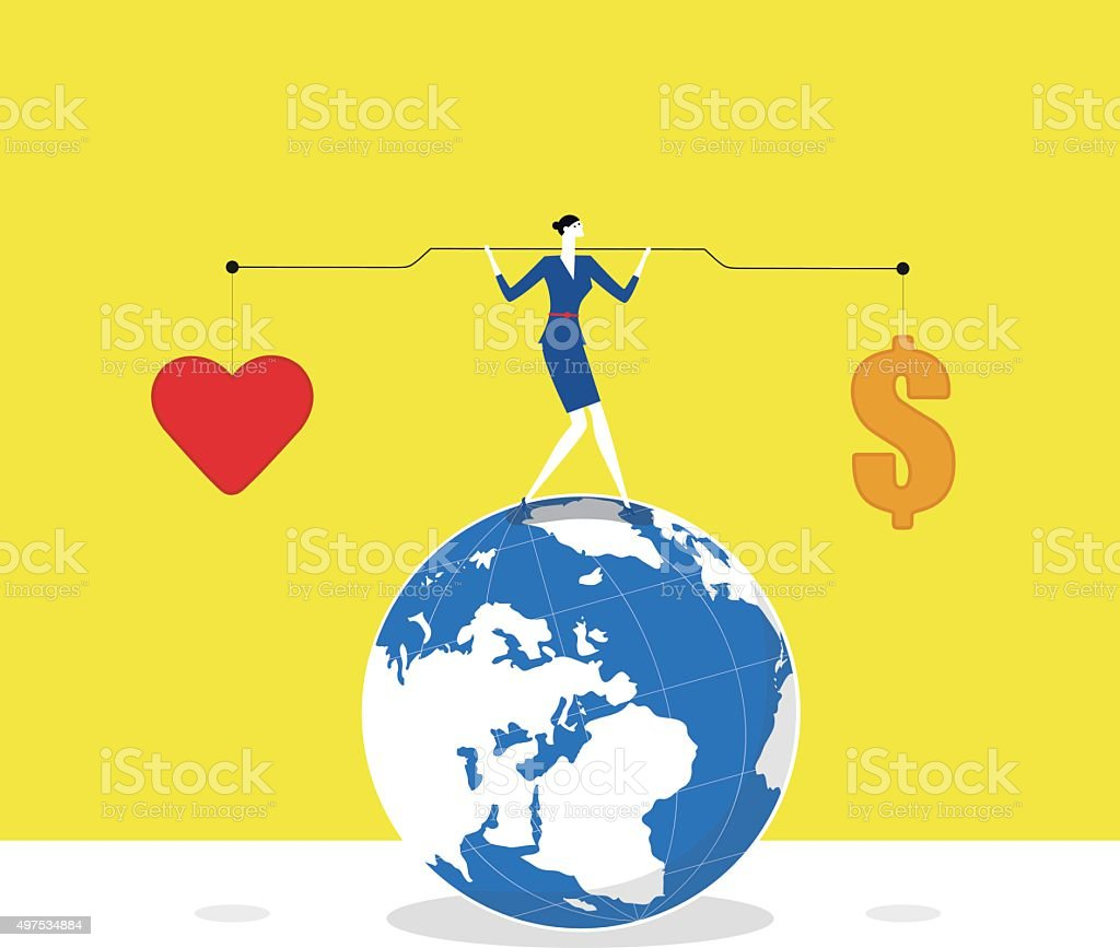 Keeping balance vector art illustration