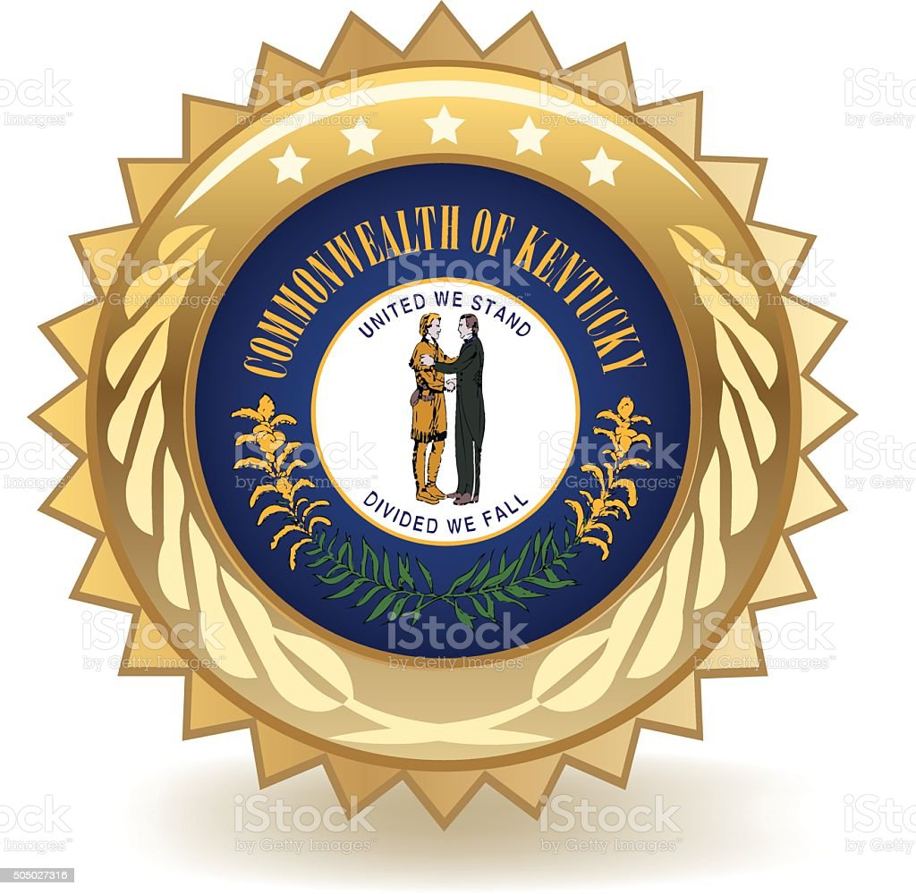 Kentucky Badge vector art illustration