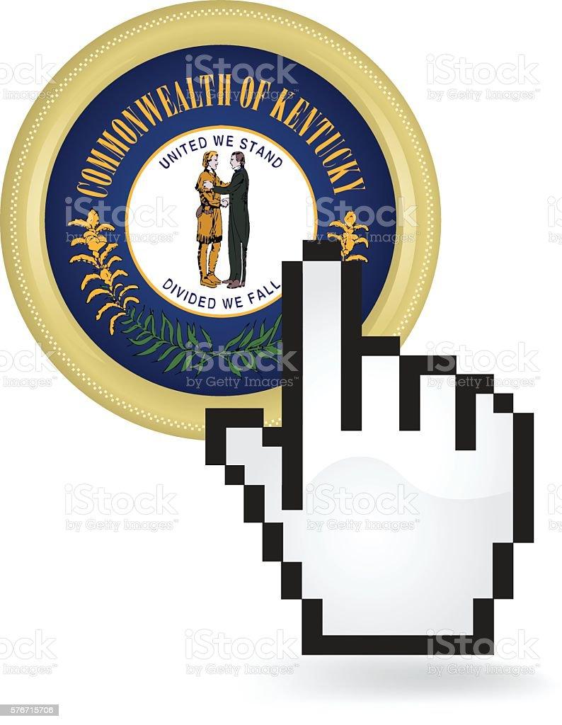 Kentucky Button Click vector art illustration