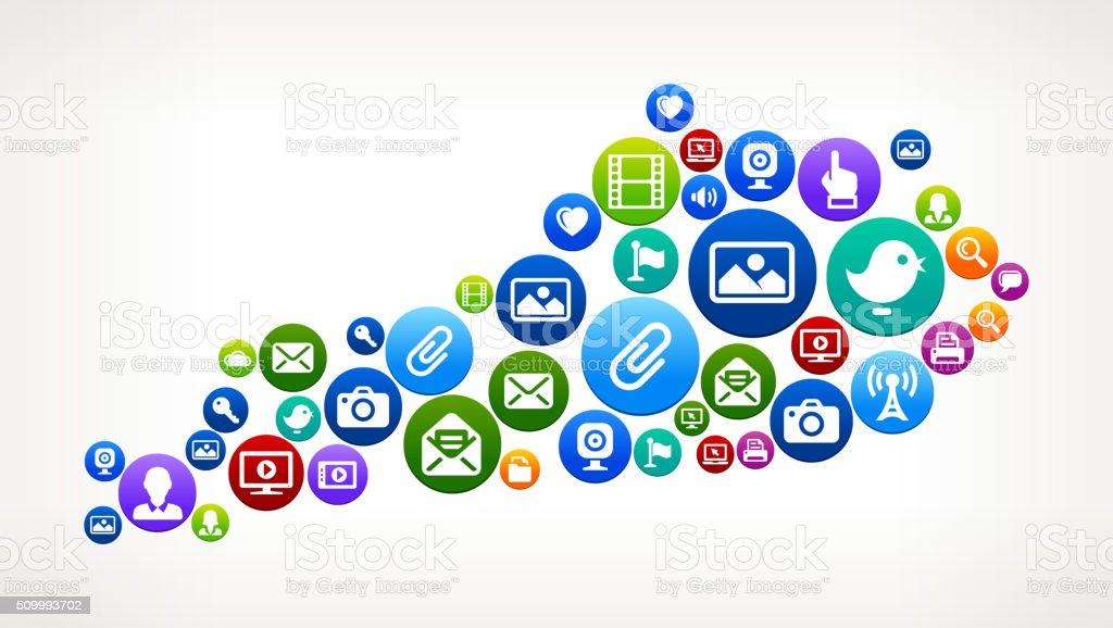 Kentucky Technology Internet and Web Media Icon Pattern vector art illustration