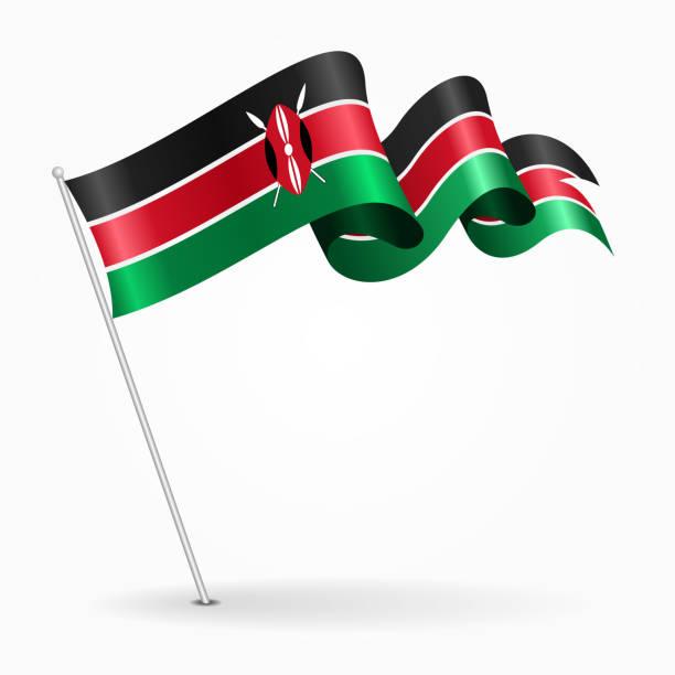 Drawing Of A Kenyan Flag Clip Art, Vector Images & Illustrations