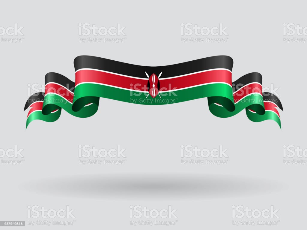 Kenyan Wavy Flag Vector Illustration stock vector art 637649318