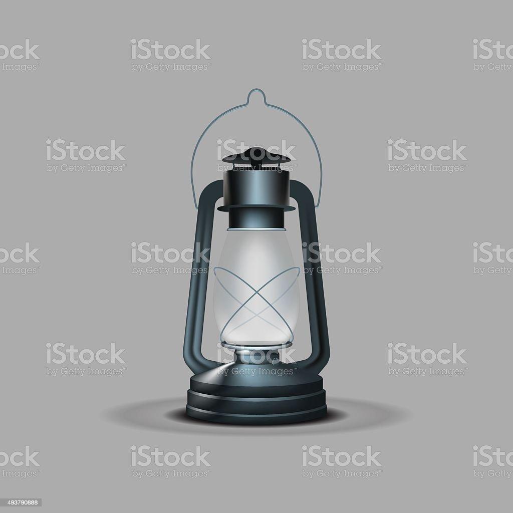 Kerosene Lamp vector art illustration