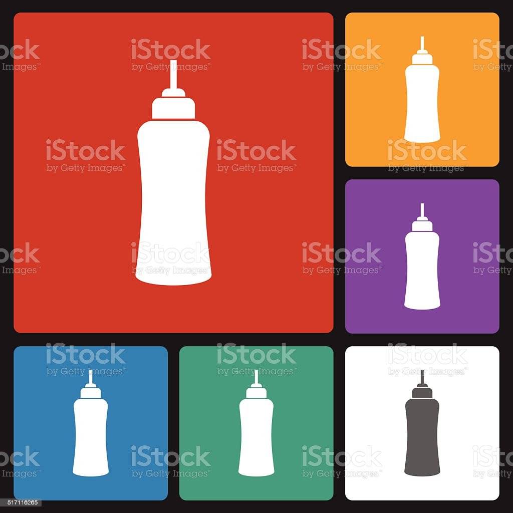 ketchup bottle icon vector art illustration