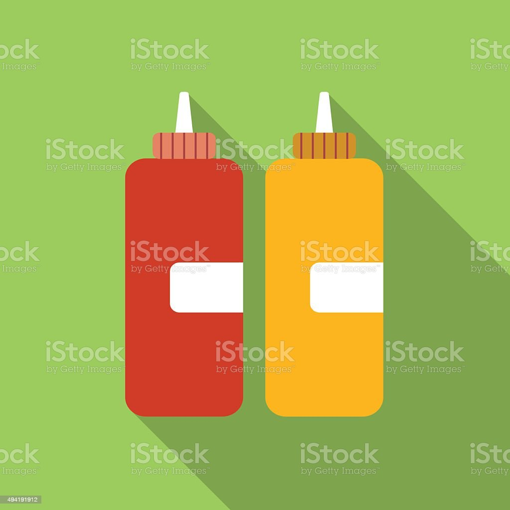 Ketchup flat icon vector art illustration