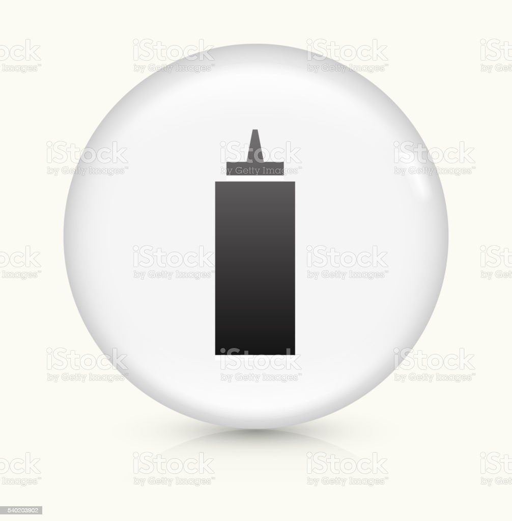 Ketchup icon on white round vector button vector art illustration