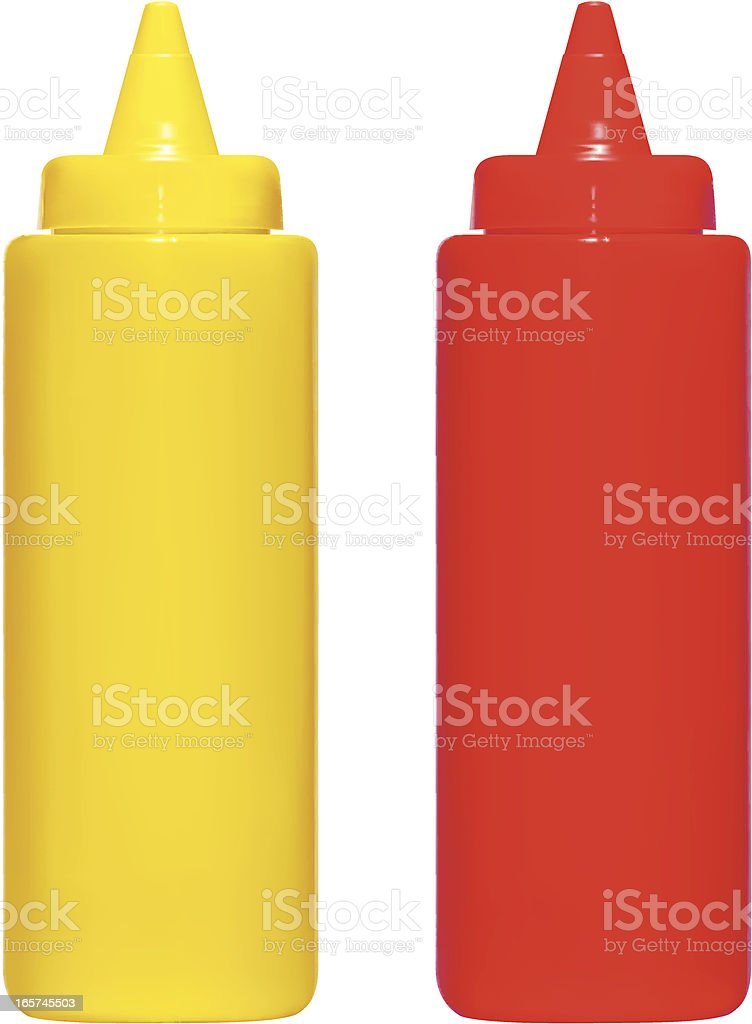 Ketchup n Mustard royalty-free stock vector art