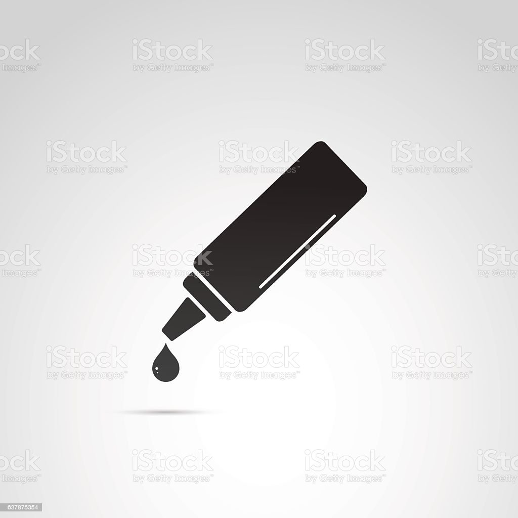 Ketchup vector icon. vector art illustration