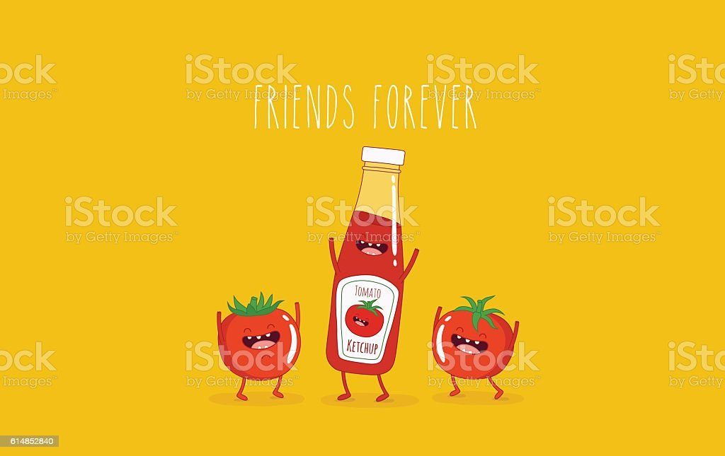 ketchup vector art illustration