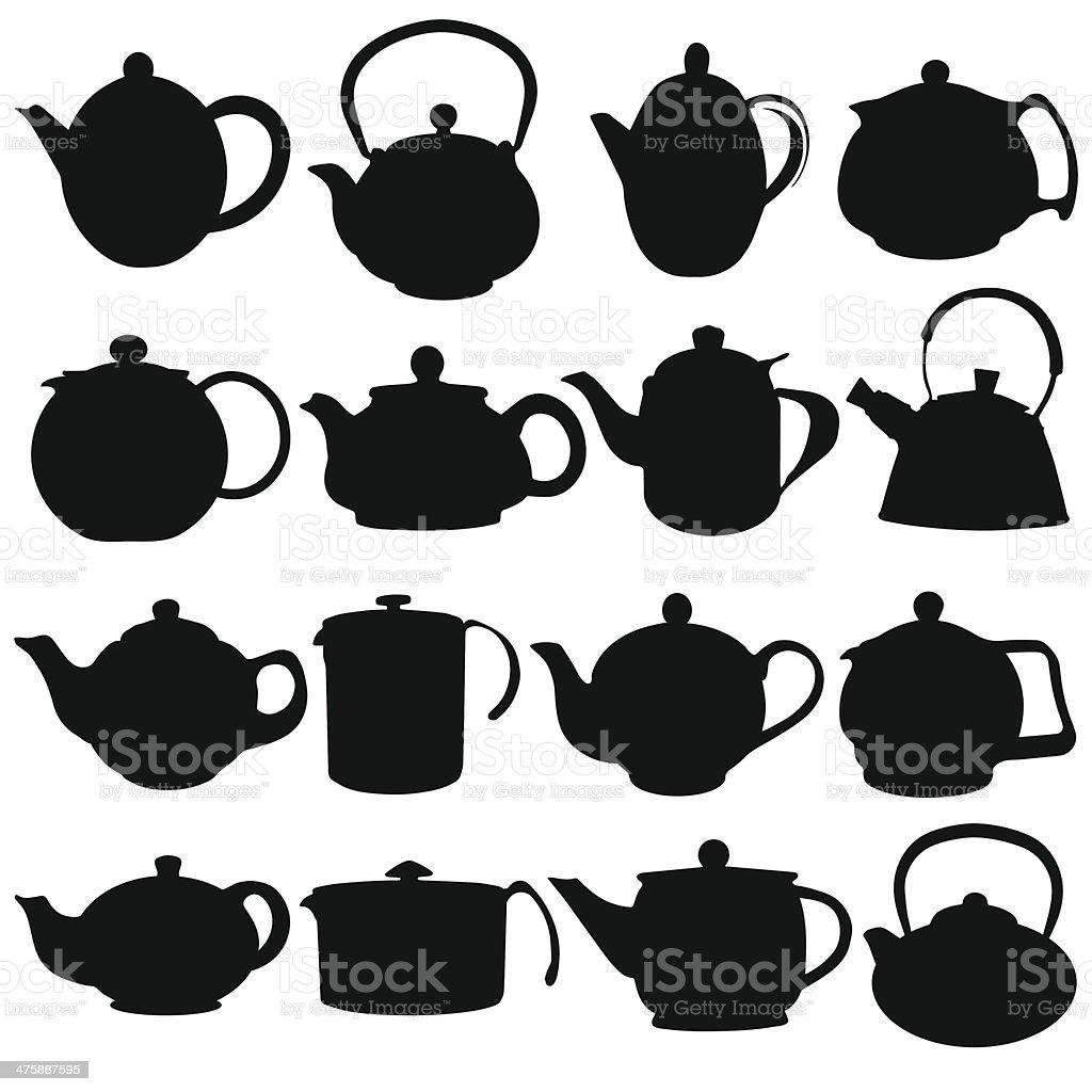 kettles vector art illustration