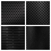 Kevlar fiber carbon vector textures set