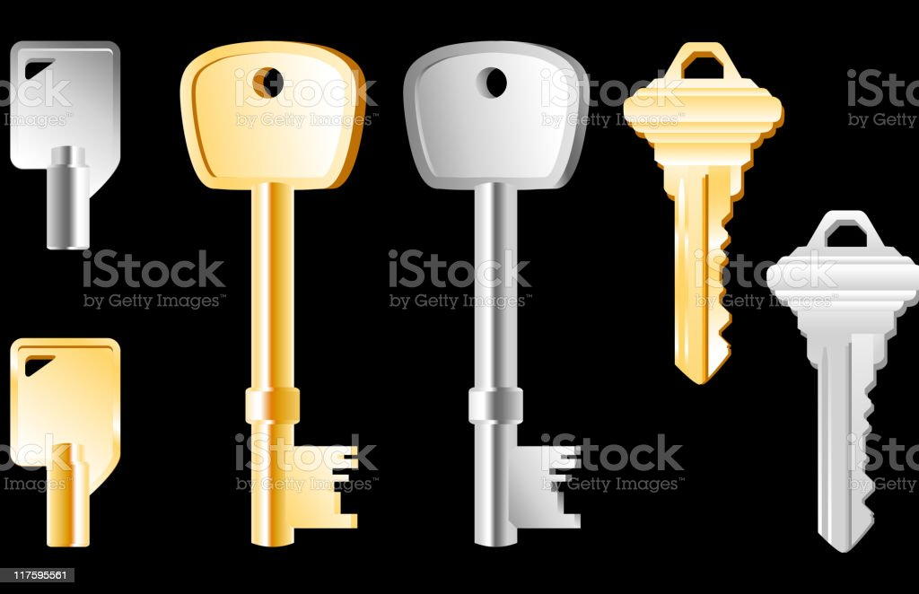 Key collection royalty-free stock vector art