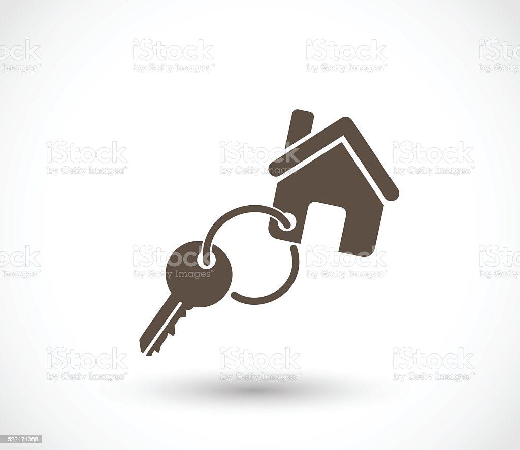 Key for a house icon vector illustration vector art illustration