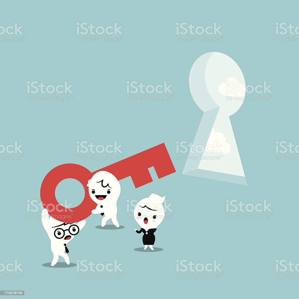 Key for Solving Problem royalty-free stock vector art