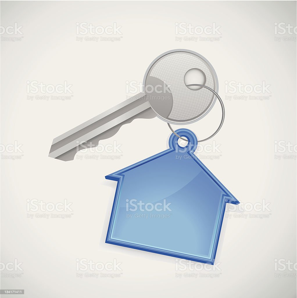 key from the new house royalty-free stock photo