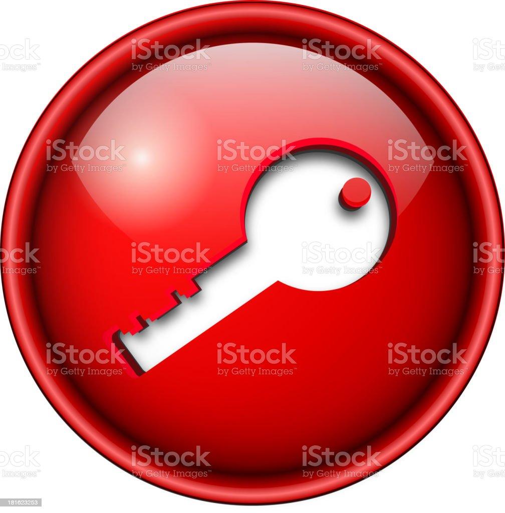 key icon, button. royalty-free stock vector art