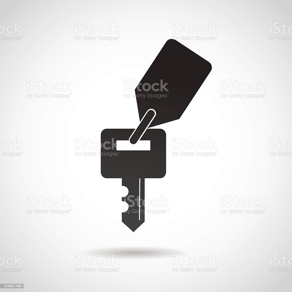 Key icon isolated on white background. vector art illustration