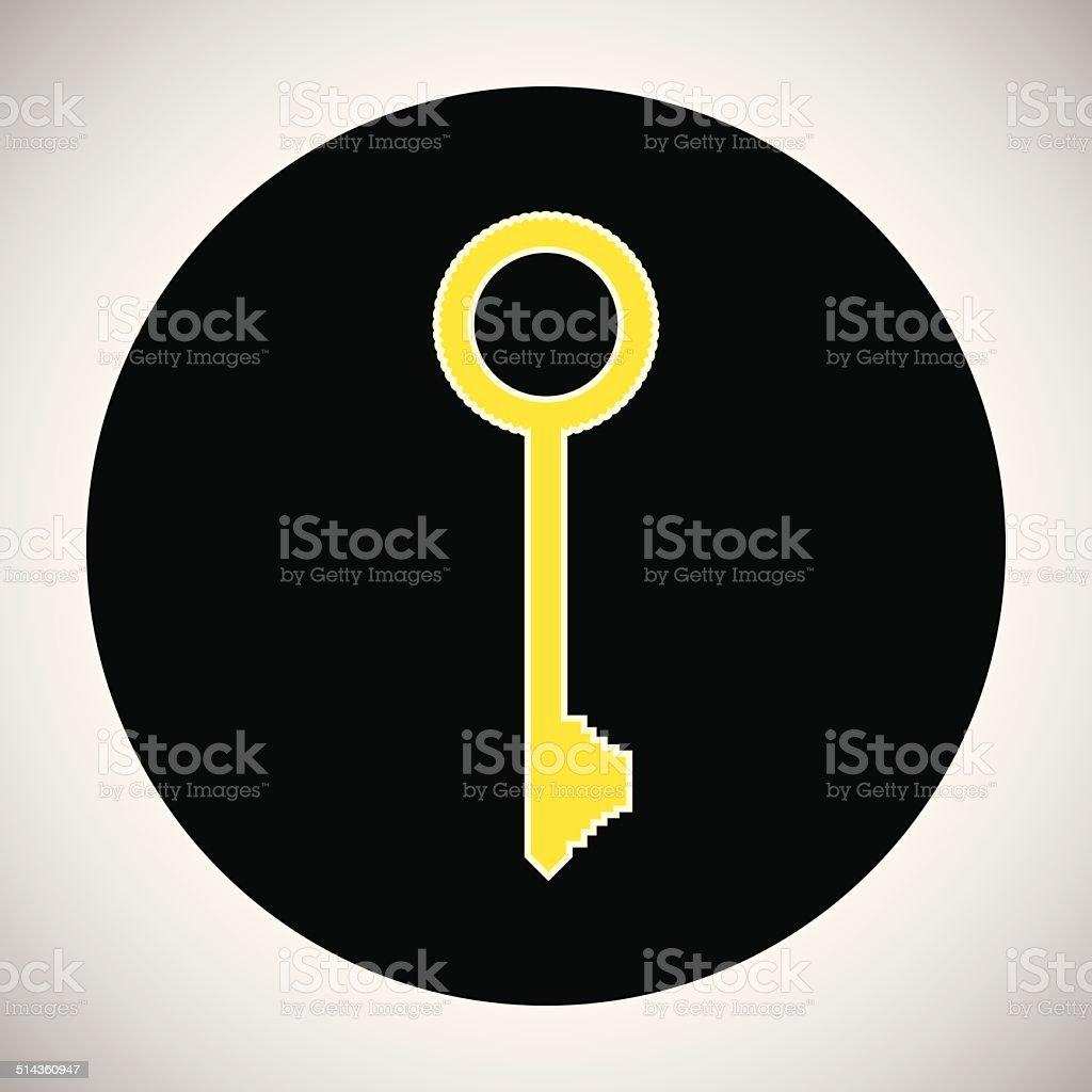 Icône de clé stock vecteur libres de droits libre de droits