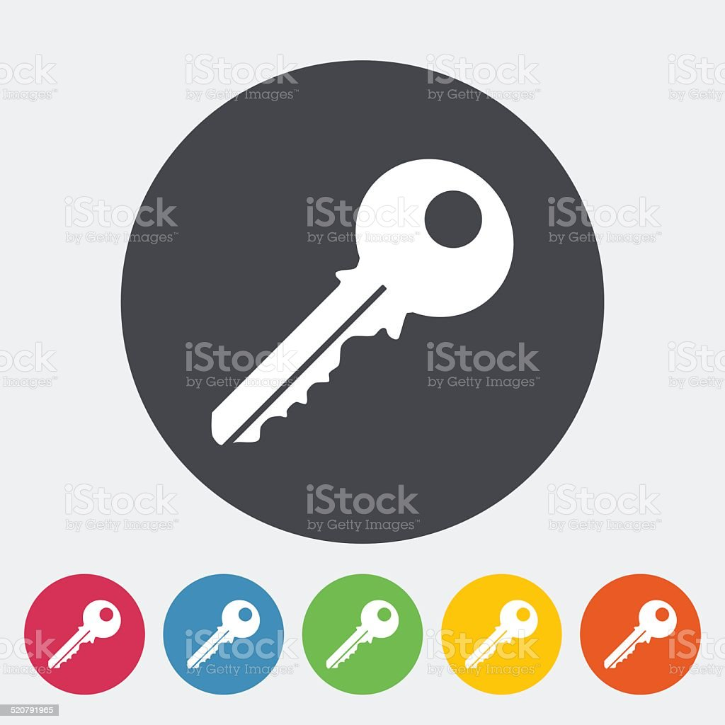 Key icon vector art illustration