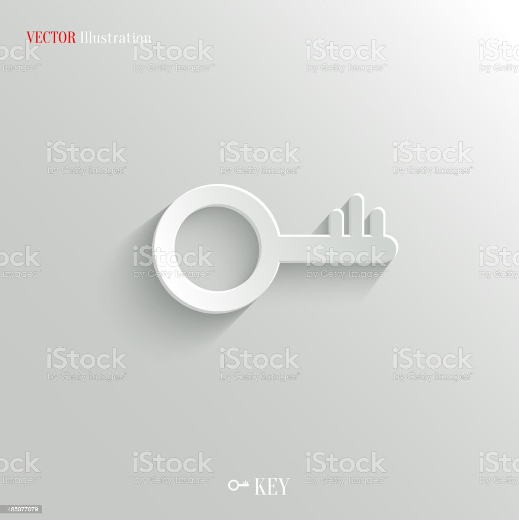 Key icon - vector web background vector art illustration