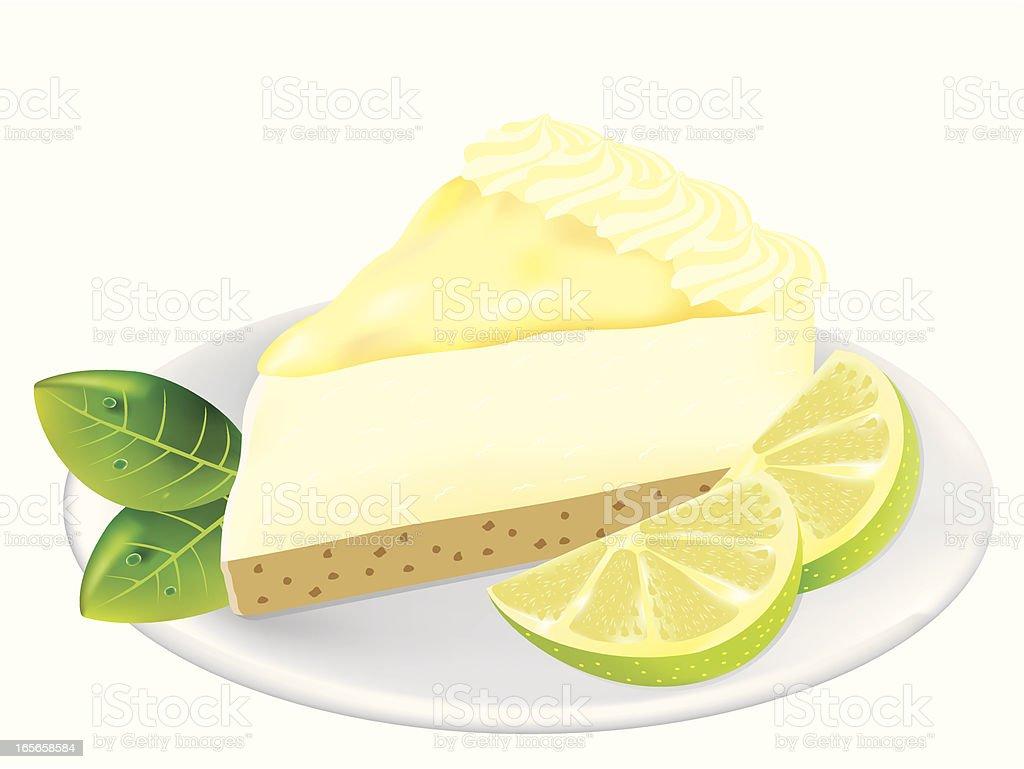 Key Lime Pie Dessert royalty-free stock vector art