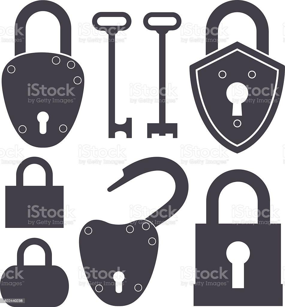 Key. Lock vector art illustration
